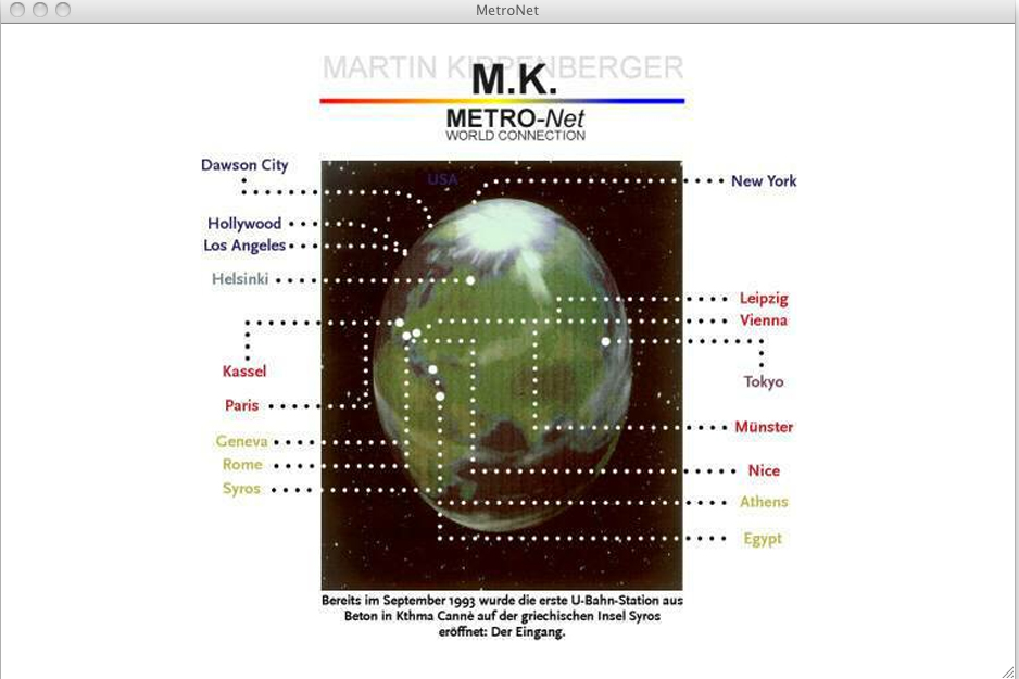 METRO-Net by Martin Kippenberger