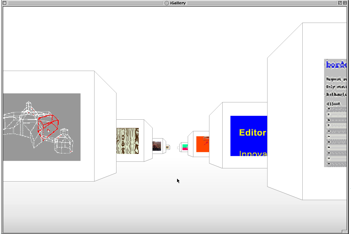 I Gallery interface for Mudam by Claude Closky